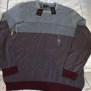 Men's Tasso Elba supima sweater port royale